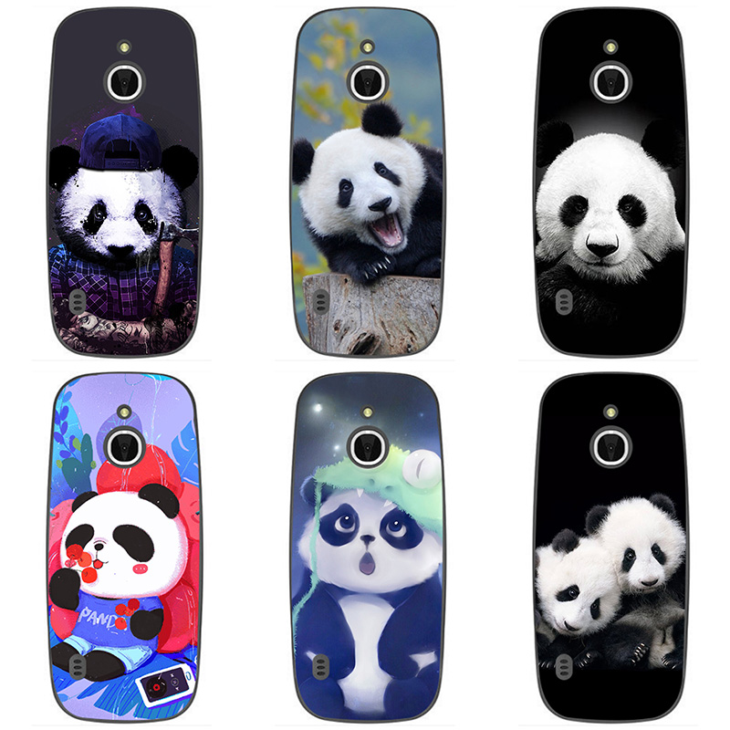 detailed look f837a 87722 US $2.6 13% OFF|Soft silicone Phone Cases For Nokia 3310 3G 4G Soft TPU  panda Cover Coque For Nokia 3310 3G/4G Print painting animal style Case-in  ...