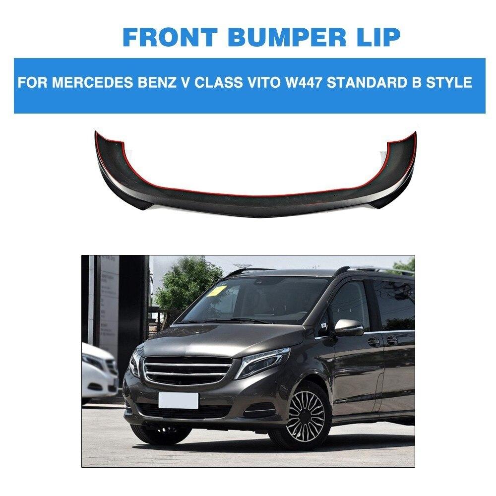 PU Front Bumper Guard Lip Spoiler Chin Protector for Mercedes Benz V class Vito W447 Standard Bumper B style 2016 2017 2018