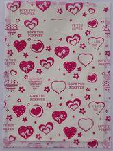 Promo 100pcs/lot Sell like hot cakes 40*30cm basket bag/transparent plastic bags/ multicolour heart gift bags 015040010