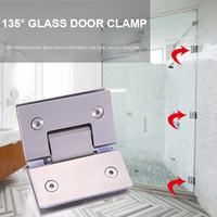 Heavy Duty 135 Degree Glass Door Hinge Cupboard Showcase Cabinet Pivot Glass Shower Doors Hinge ALI88