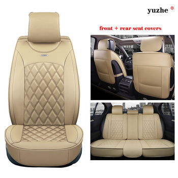 Yuzhe leather car seat cover For Toyota RAV4 PRADO Highlander COROLLA Camry Prius Reiz CROWN yaris car accessories styling