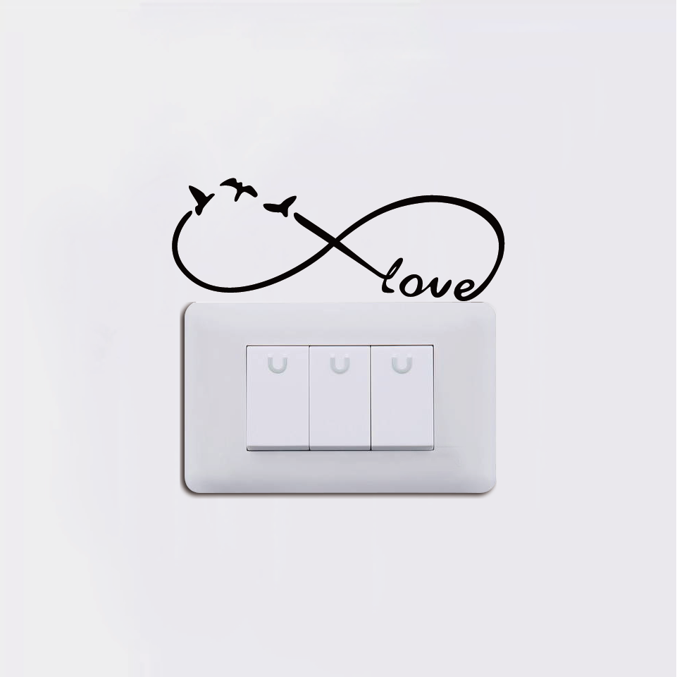 Cinta Tanpa Batas Simbol Switch Stiker Kartun Lucu Burung