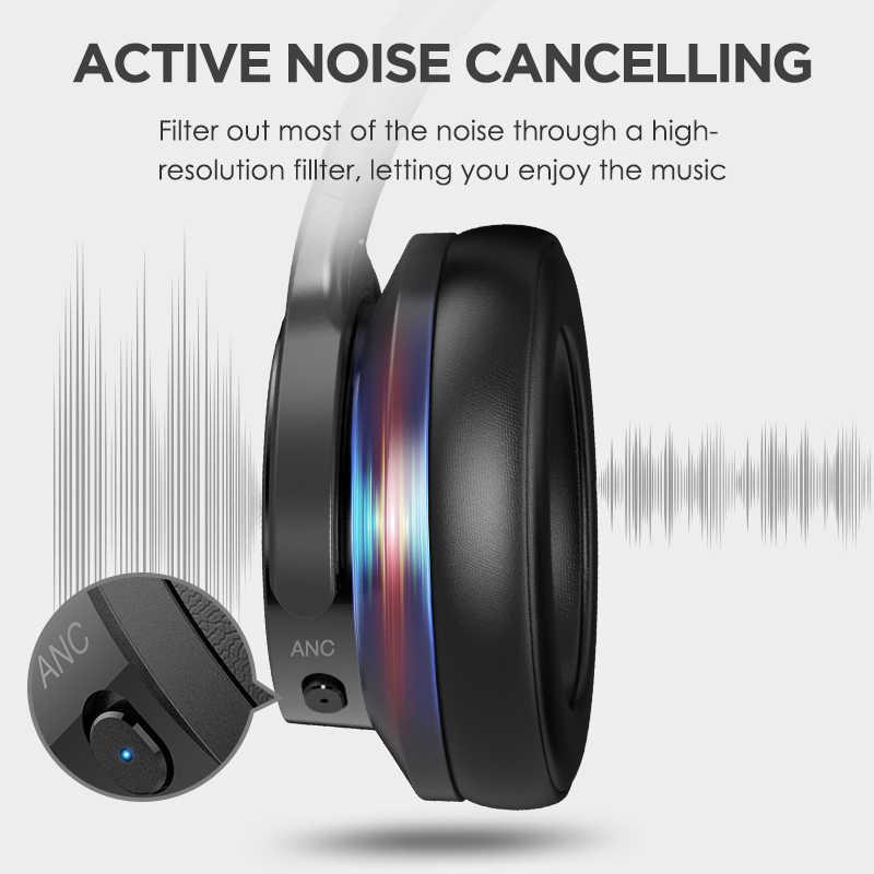 Mixcder E9 アクティブノイズキャンセルワイヤレスbluetoothヘッドフォン 30 時間プレイタイムbluetoothヘッドセットスーパーハイファイ重低音