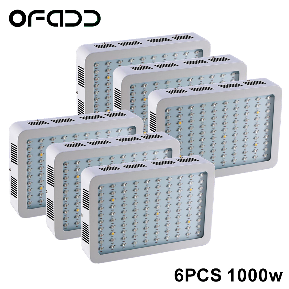 6PCS 1000W Full Spectrum High Yield LED Grow Light For plants hydroponics Veg Flower Fruit indoor greenhouse grow tent lamps