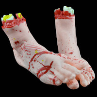 2 PC Halloween Horror Props Bloody Big Size Right Hand Haunted House Party Decor Factory Price