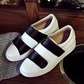 Women's Hook&loop Genuine Leather Flats Loafers Brand Designer Platform Leisure Espadrilles Shoes for Women Moccasins Calzados