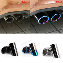 Car Styling Exhaust Pipe Muffler Tip Turbo Sound Whistle for Vw Beetle Golf Polo Scirocco Bora Passat B6 B7 Tiguan 1.4T 1.6 TSI