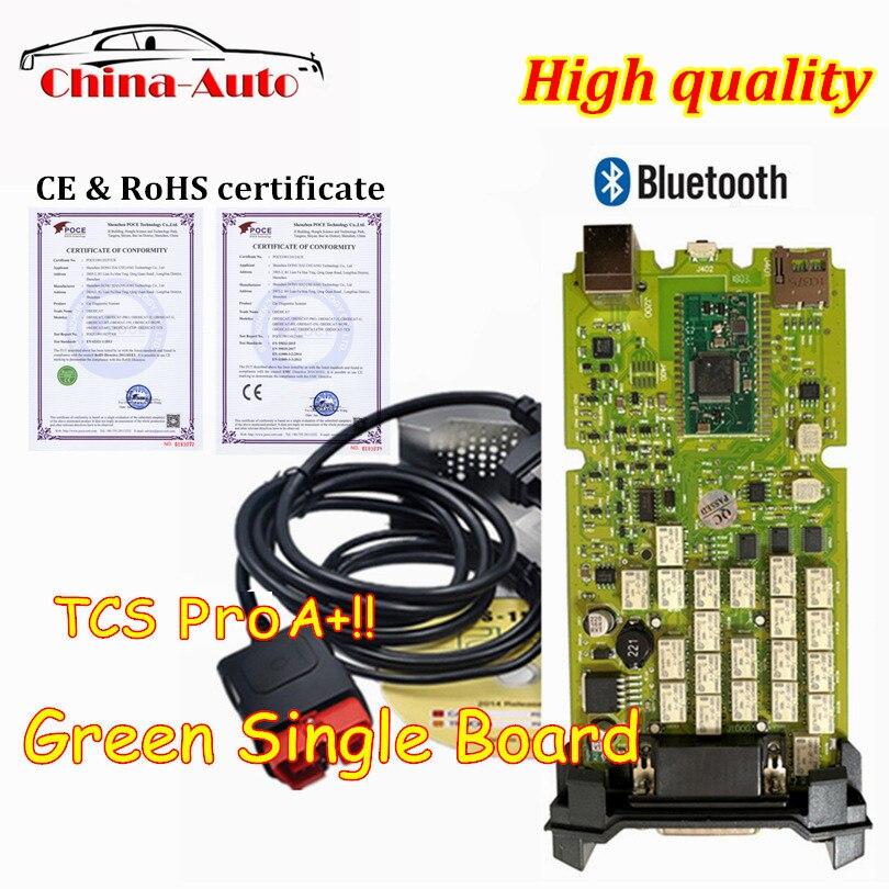 UMA Qualidade OBDIICAT-CDP ++ TCS PRO Verde Única Placa de Software Com Bluetooth NOVO software 2016.00 Com Keygen OBD2 ferramenta de diagnóstico