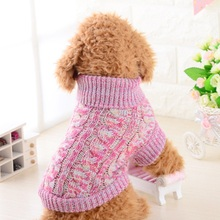 Free Size Winter Warm Dog Clothes Puppy Jacket Coat Soft Dog Solid Color Spring Puppy Sweater for Chihuahua Roupas Para Cachorro