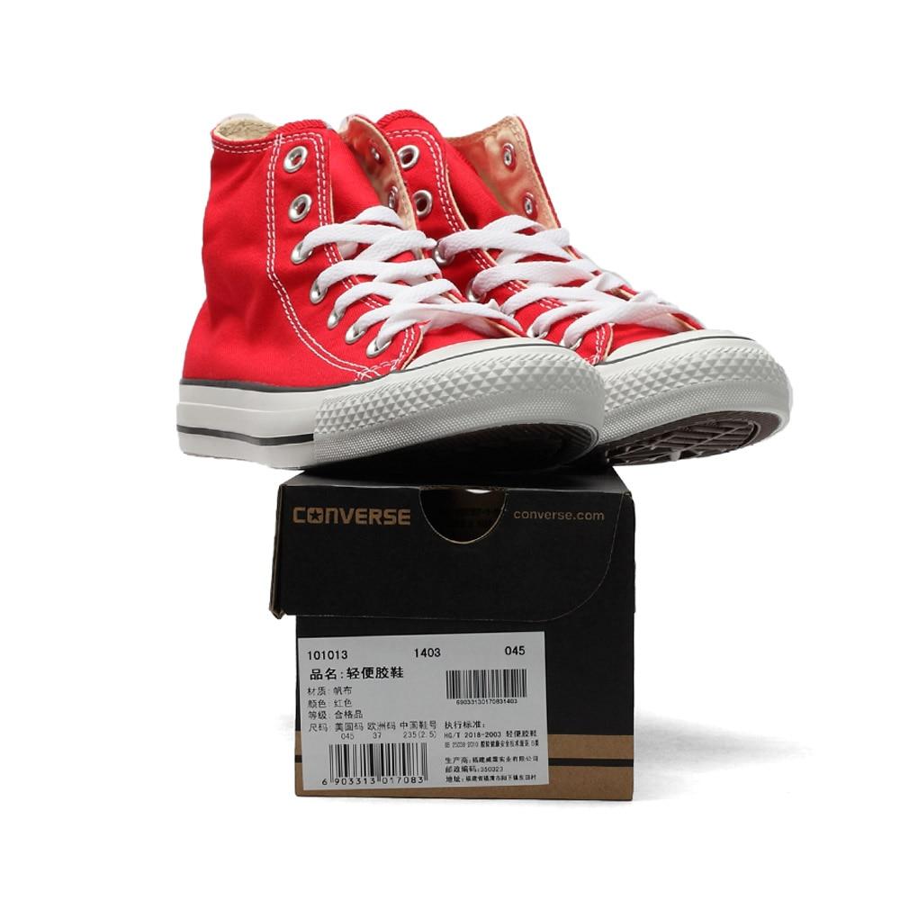 D'origine Converse all star chaussures hommes et femmes espadrilles de toile chaussures hommes femmes haute classique Planche À Roulettes Chaussures livraison gratuite - 3