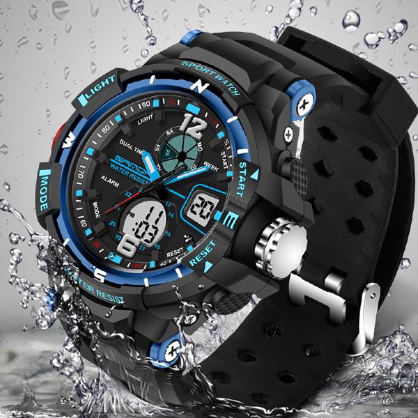 Prix pour SANDA Montre-Bracelet LED Montre Numérique Hommes Montres Top Marque De Luxe Célèbre Électronique Sport Montre-Bracelet Homme Horloge Relogio Masculino