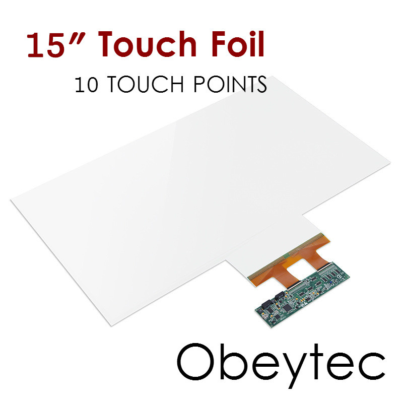 Obeytec 15 Touch Film, 10 Touch Points, 16:9/16:10, Transparent Interactive Touch Foil, Fast Shipping 17 10 points interactive touch film with usb connection transparent touch foil products