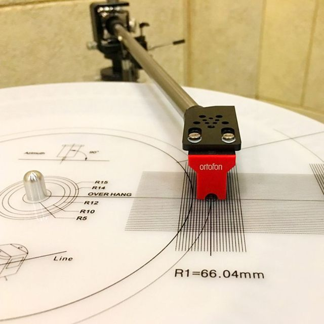 LP Vinyl Pickup Calibration Distance Gauge Protractor Adjustment Tool Adjustment Ruler Anti sliding plate Turntable Accessories