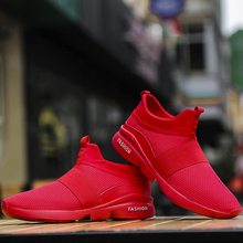Men Shoes Mesh Breathable Sneakers Lightweight Outdoor Sport Running Slip-on Sock Male Footwear