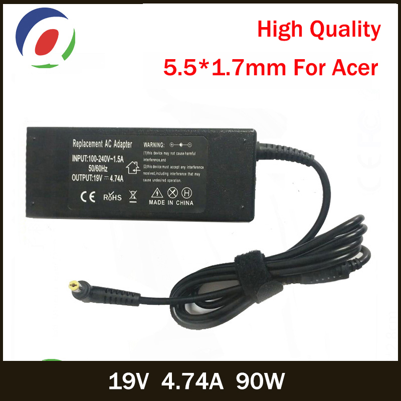 QINERN 19V 4.74A 90W 5.5*1.7mm AC Laptop Charger For Acer Aspire E1-531 E1-571G M5-581G V5-571P 4925G Power Adapter For Acer reiwalker women wallets brand design pu leather purse hasp fashion dollar price long wallets for female