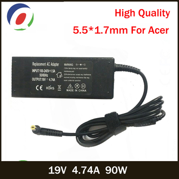 QINERN 19V 4.74A 90W 5.5*1.7mm AC Laptop Charger For Acer Aspire E1-531 E1-571G M5-581G V5-571P 4925G Power Adapter For Acer цена 2017