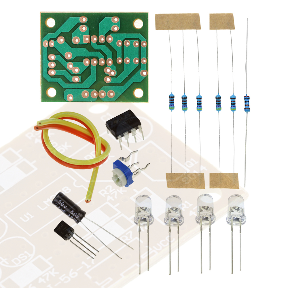 LM358 Electronic Breath Light Training LED DIY Kit Soldering Practice Production