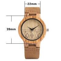 Bohemia reloj de madera pulso cuero 2