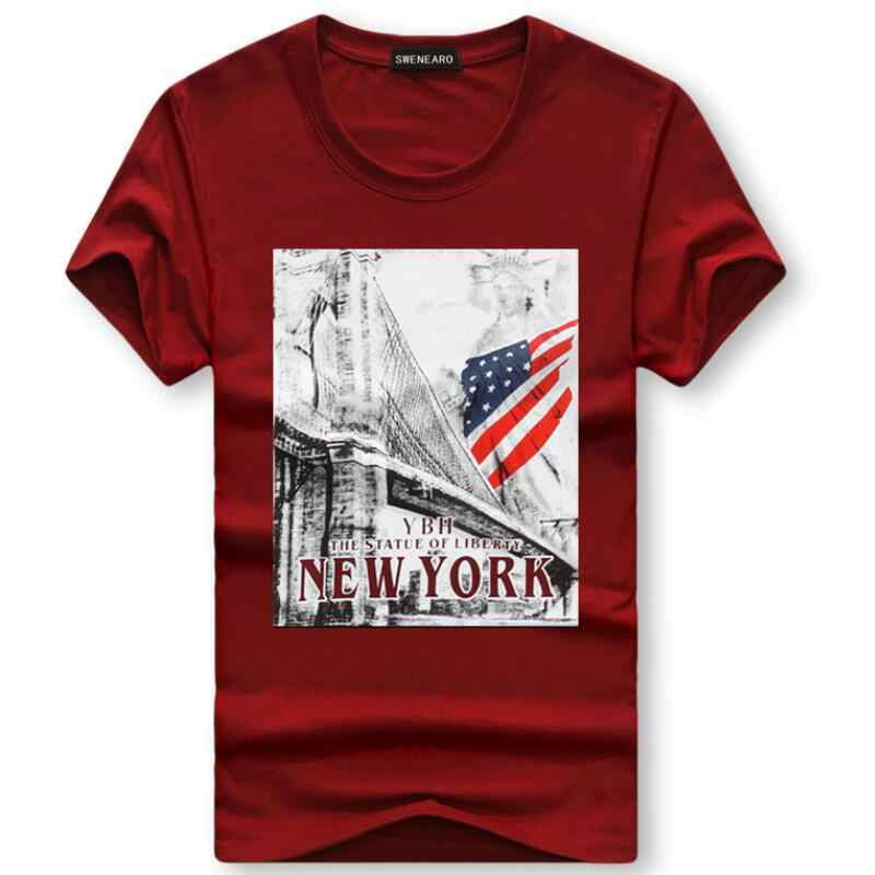 Men's T-Shirt 2019 Sailboat ME letter American Flag Printed Funny T-Shirt Men Summer casual short sleeved cotton Tee shirt homme