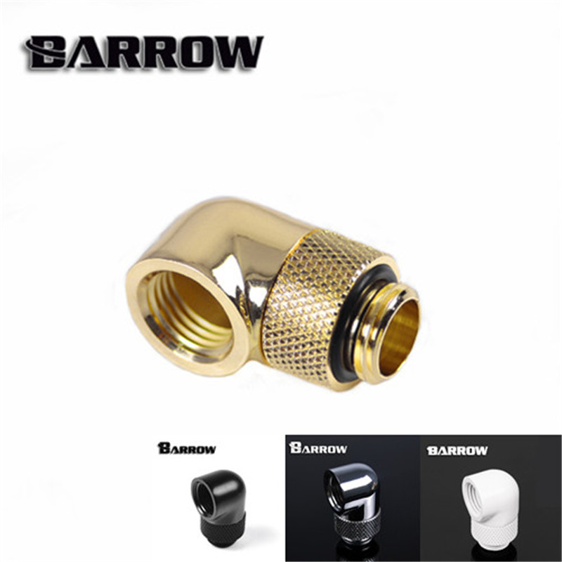 Barrow G1/4 45 90 Degree Rotatable Adapter (M-F) 360 Rotary Joint Water Cooling Tube Angled Fitting 4 Colors