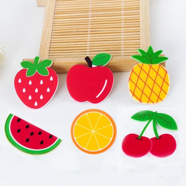 R180 19 De Descontokawaii Dos Desenhos Animados De Frutas Estatueta Comida Rosto Decoração Para Casa Plana Volta Planar Resina Artesanato Diy