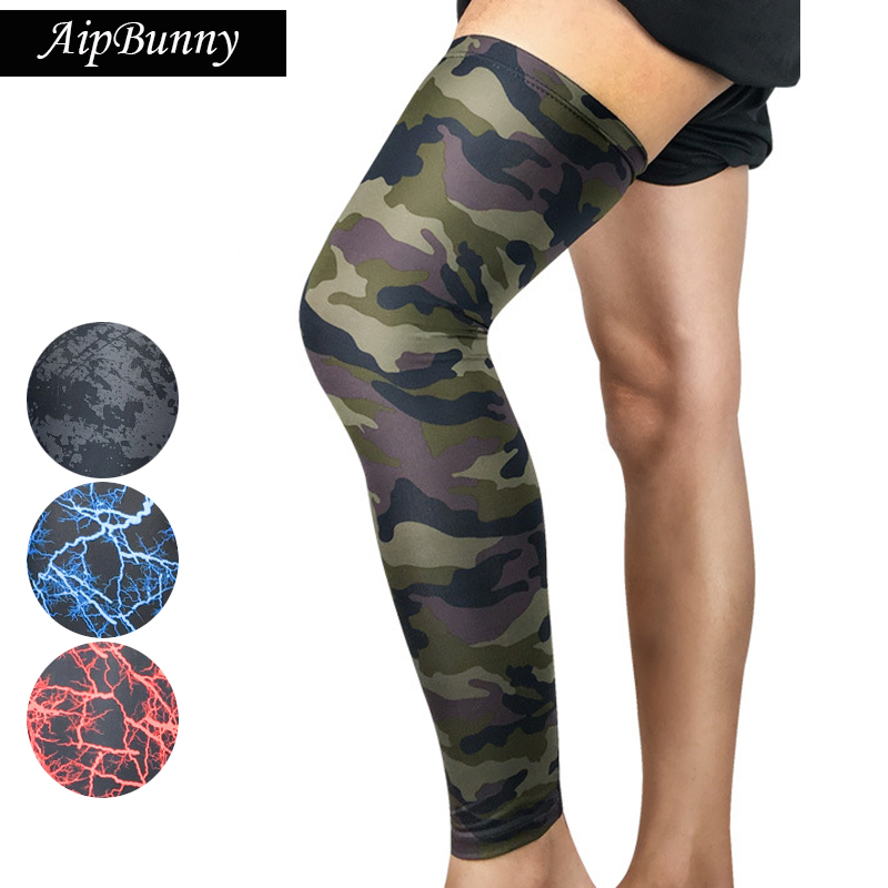 2 Pcs Compression Breathable Sock Legwarmer Camouflage Multi Color Sport Leg Sleeves for Running Cycling Hiking Jogging
