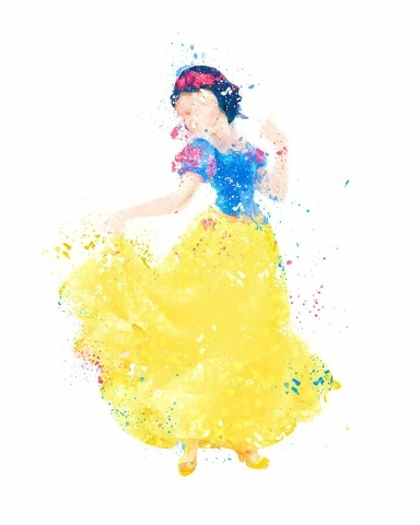 DISNEY PRINCESS TOILE PHOTO aériennes BLANCHE NEIGE Jasmine Cendrillon Belle Art