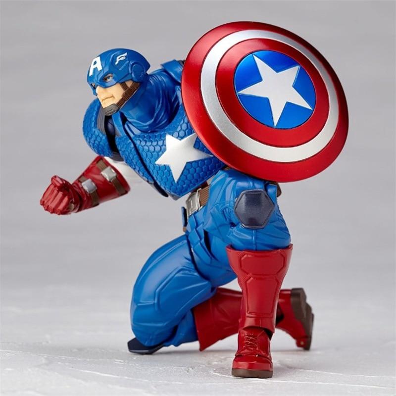 Revoltech Amazing Red Venom Carnage Amazing Captain America Spiderman Magneto Wolverine X-men Action Figures Toy Doll (6)