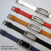Mi Band 2 Wrist Strap Leather For Xiaomi Mi Band 2 Strap Genuine Leather Screwless Miband