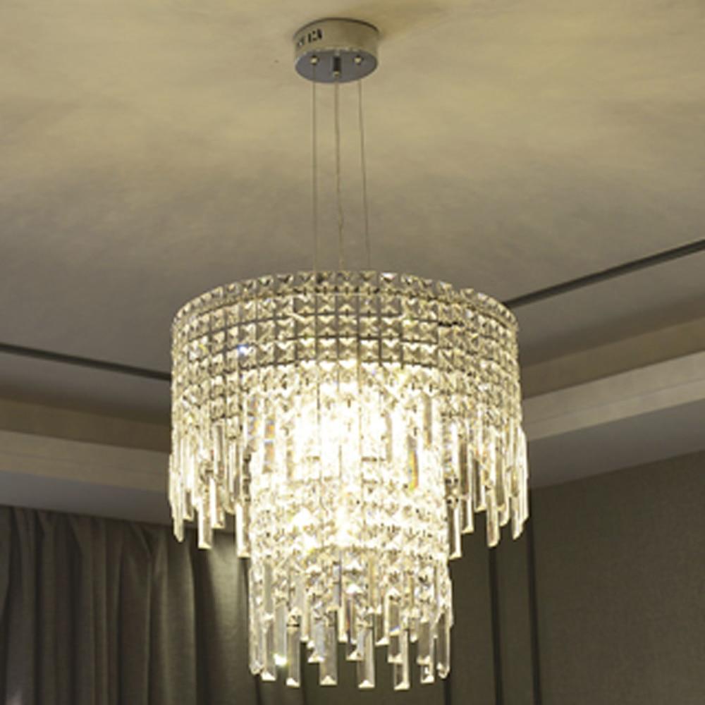 modern 2 layers crystal lights chandelier modern lighting Dia50cm crystal lustre dinning room shop chandeliers