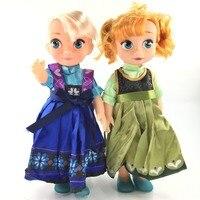 צעצועי 2016 בובות לילדות קפוא נסיכת דיסני Frozne Elas ואנה זול Ty026 Juguetes צעצועי קריקטורה חמודה ילדים