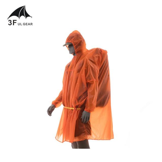 3F UL Poncho Ultralight  Raincoat   15D Silicone 210T 2