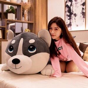Image 5 - Peluches de 80 120cm, 1 pièce, jouets animaux grands chiens Husky, poupées en peluche, coussin doreiller, cadeaux danniversaire pour bébés enfants, décoration de la maison