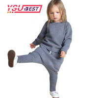 2019 Knitting Rabbi Wool Suit Spring Winter Girls Clothes 1-5Yrs Kids Sweaters Fashion Boys Clothes Little Rabbit Embroidered