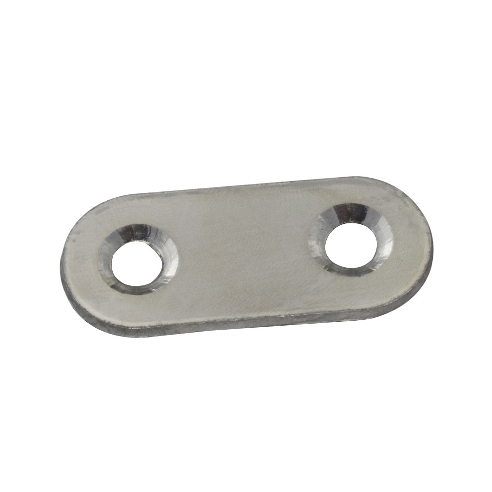 Stainless Steel 57x16mm Corner Brackets 1.8mm Thickness Straight Flat Bracket for Furnit ...