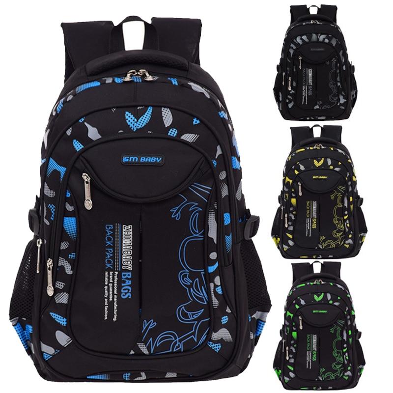 Waterproof Primary School Bags Orthopedic Children School Backpacks Schoolbags For 6-12 Years Old Teenagers Boys Kids Book Bags