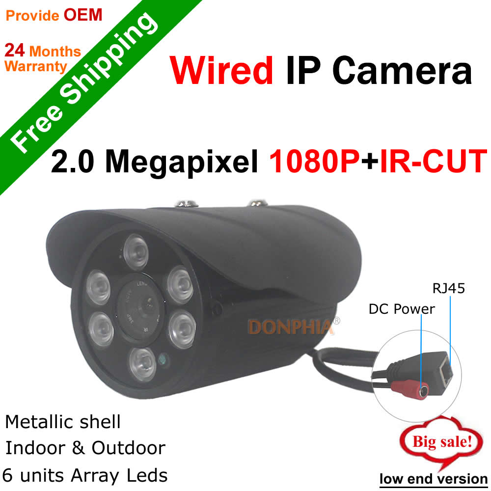 ФОТО 1920x1080P Outdoor IP Camera Full HD ir night vision waterproof Surveillance 2.0MP Wired CCTV Camera support Onvif P2P Remote