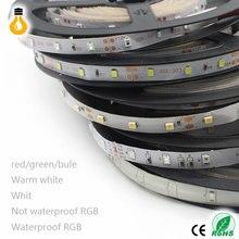5 м/рулон RGB теплый свет, холодный белый, красный, зеленый, голубой, желтый гибкий 2835 Водонепроницаемый Светодиодные ленты Lights 300 светодиодов ...