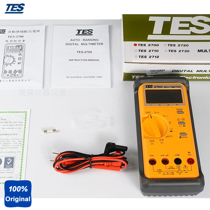 Autoranging and Auto-power-off LCR Multimeter TES-2700
