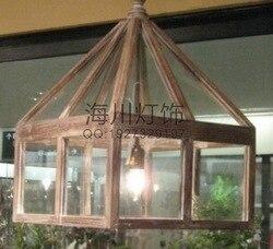 Скандинавский минималистичный современный спальня на вилле отель проект деревянная стеклянная люстра креативная Американская страна