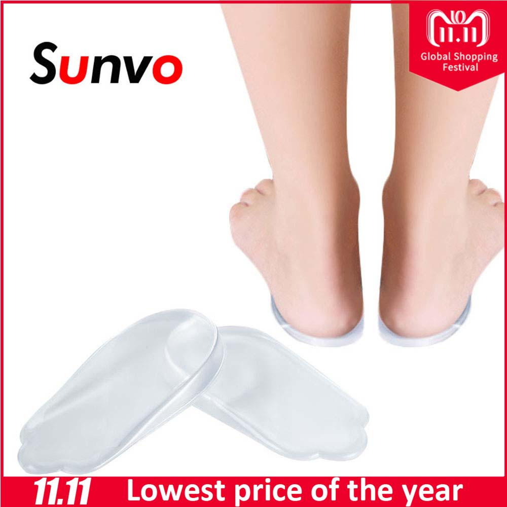 Sunvo Gel O/X Type Leg Orthotics Heel Pads Corrective Valgus Varus Foot Massage Orthopedic Insoles Flatfoot Support Insert Pads soumit gel unisex o x leg valgus varus corrector orthotic insoles foot pads heel correction pads flatfoot support insert insoles