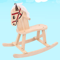 Children's Educational Toys Traditional Solid Wood Small Horse Wooden Mechanical Walking Rocking Chair for 3 8 Years Old Kids
