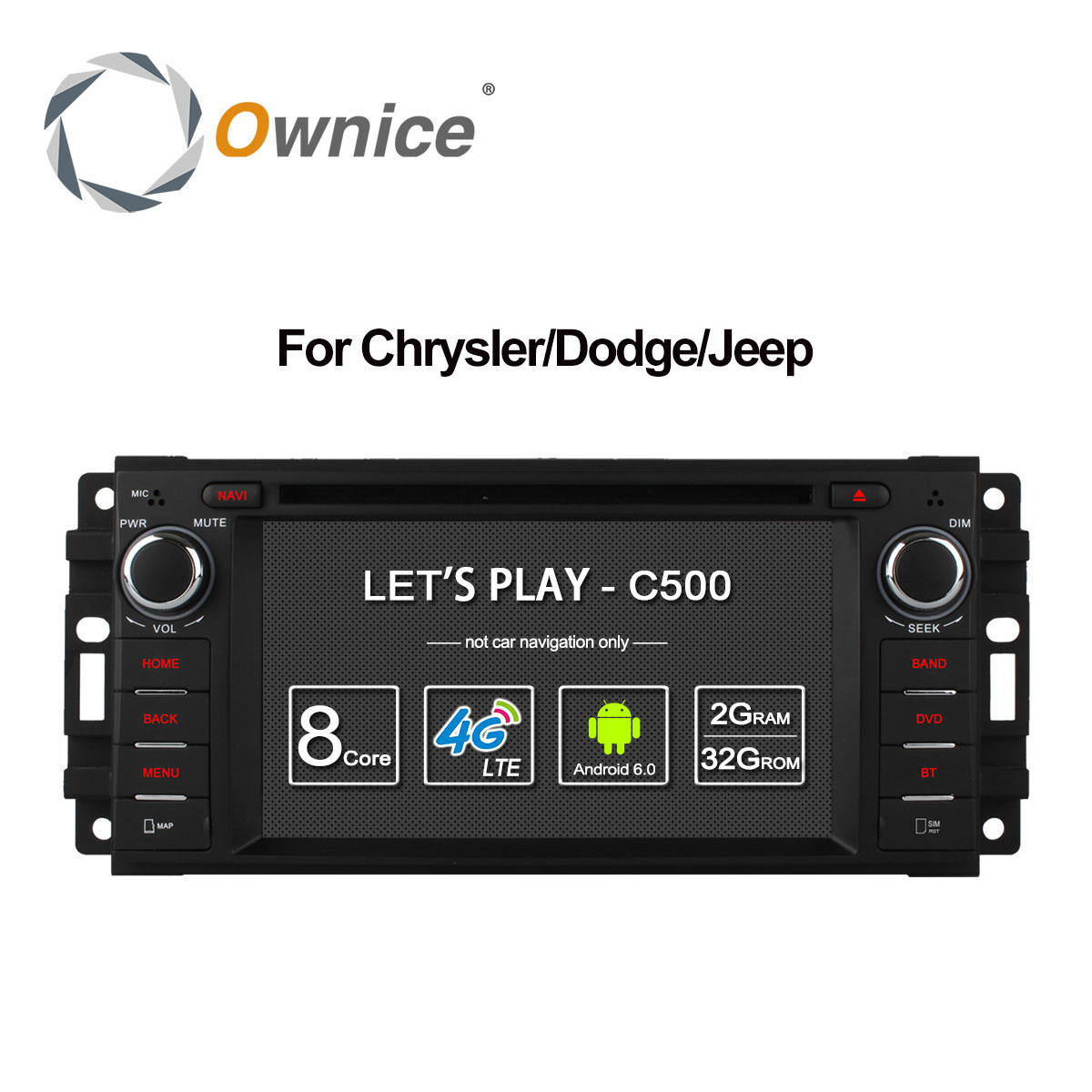 Ownice C500 Android 6 0 Octa Core font b car b font dvd player for Jeep