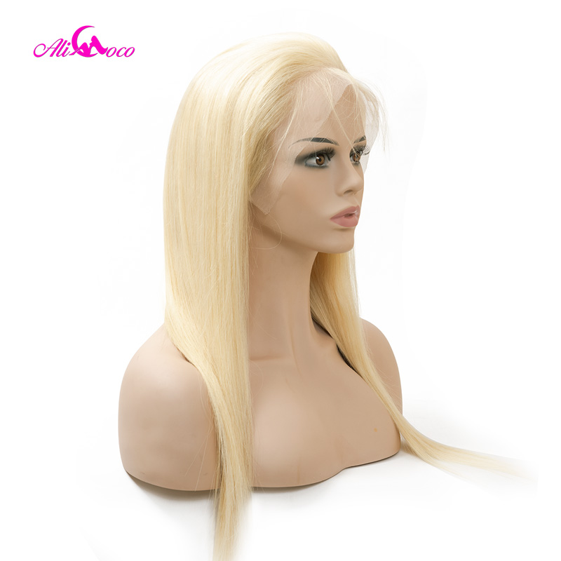 Ali Coco 613 1b 613 Brazilian Straight Full Lace Human Hair Wigs 130 150 180 Density