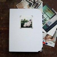 Biały Wodoodporny Pokrywa 9 Pierścienie Wiążące 27.5*21.5 CM Luźne Liści Album Album Księga Gości Dla Noworodka na Zdjęcia Kupić
