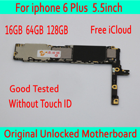 For iphone 6 Plus 5.5inch Motherboard 16GB 64GB 128GB, MB Plate for iphone 6 Plus Original unlocked Mainboard without Touch ID