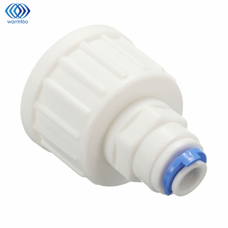 Household Water Filter Tap Connector Adaptor Push Fit 3/4 Inch BSP To 1/4 Inch Reverse Osmosis RO White Watering Fitting Pipe