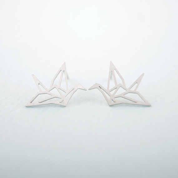 Jisensp Lovely Animal Stud Earrings Women Kids Jewelry Cute Leaf Ear Earing Fashion Bird Earings Piercing Pendientes Party Gifts