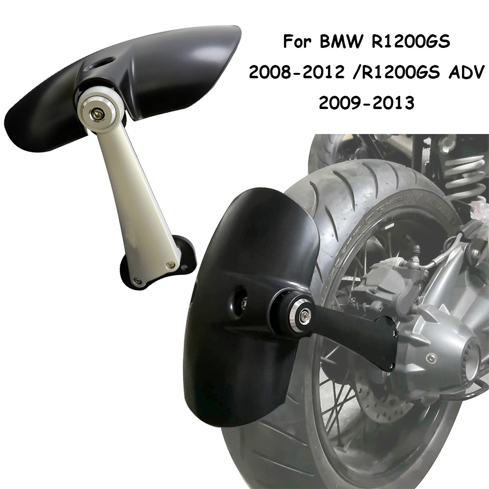 For BMW R 1200 GS R1200 GS 2008-2012 R1200GS ADV 2009-2013 Motorcycle Fender Tire Mudguard Hugger Wheel Extension for bmw r1200gs r1200 gs adventure 2008 2012 motorcycle carbon rear fender bracket wheel hugger fender mudguard splash guard
