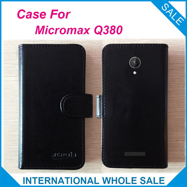 Hot! 2016 Micromax Q380 Case New Arrival Factory Price Leather Exclusive Cover For Micromax Canvas Spark Q380 Case tracking